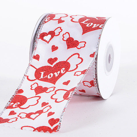 Valentine Ribbon Red ( 2.5 Inch x 10 Yards) -