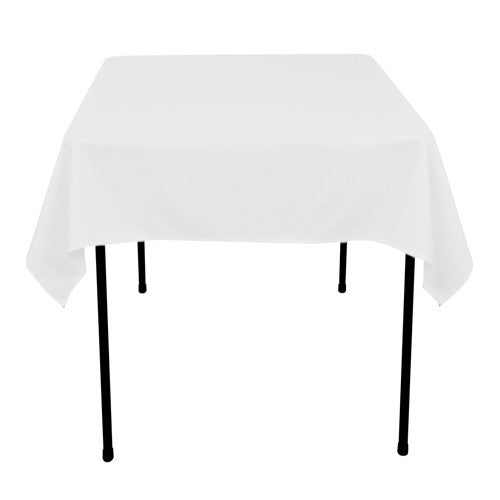 White  52 x 52 Square Tablecloths  ( 52 Inch x 52 Inch )- Ribbons Cheap