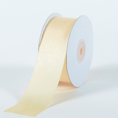 Satin Ribbon Double Face Ivory ( W: 5/8 inch | L: 25 Yards ) -