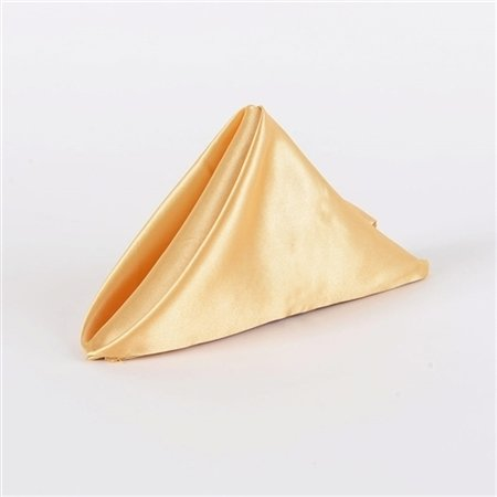 Old Gold 20 Inch x 20 Inch Satin Napkins - Pack of 5