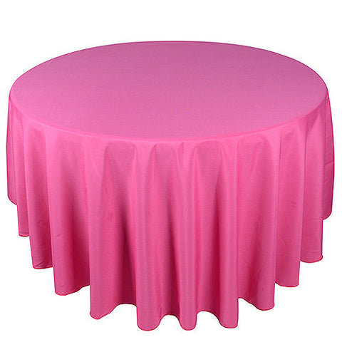 Fuchsia  90 Inch Round Tablecloths  ( W: 90 Inch | Round )- Ribbons Cheap