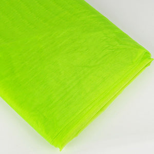 Organza Fabric Bolt (10 Yards) Apple Green -