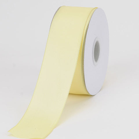 Satin Ribbon Wire Edge Baby Maize ( W: 1-1/2 inch | L: 25 Yards ) -