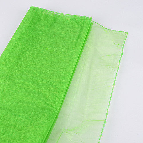 Wedding Organza Fabric Decor Apple Green ( W: 28 inch | L: 216 Inches ) -