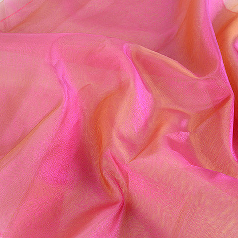 Two Tone Organza Overlays Fuchsia Green ( W: 28 inch | L: 108 Inches )- Ribbons Cheap