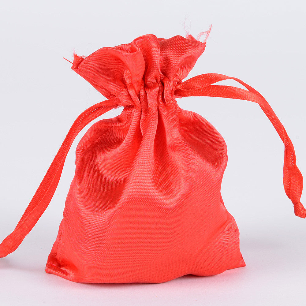 Satin Bags Red ( 3x4 Inch - 10 Bags ) -