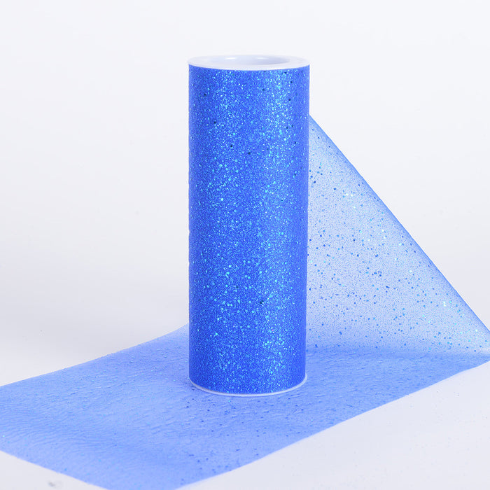 6 Inch Confetti Organza Roll Royal Blue ( W: 6 inch | L: 10 yards )