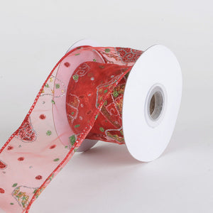 Christmas Ribbon ( 2-1/2 Inch x 10 Yards	 ) -