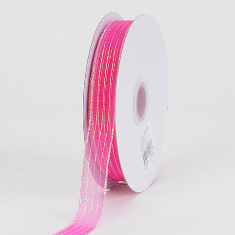 Corsage Ribbon Fuchsia ( W: 3/8 inch | L: 50 Yards ) -