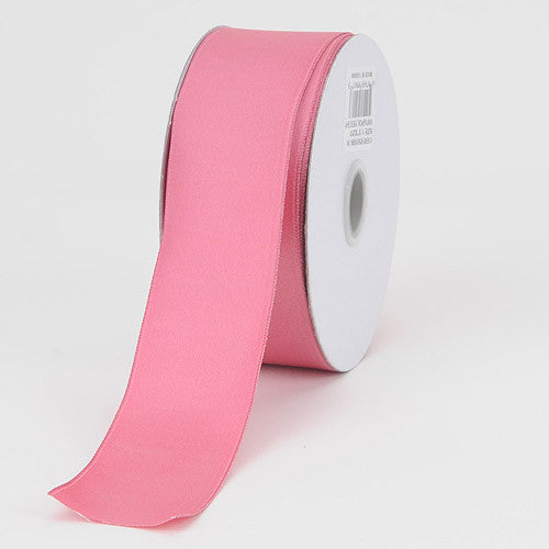 Satin Ribbon Wire Edge Colonial Rose ( W: 1-1/2 inch | L: 25 Yards ) -