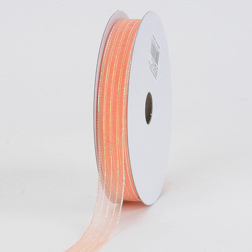 Corsage Ribbon Peach ( W: 3/8 inch | L: 50 Yards ) -