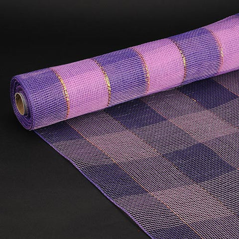 Christmas Mesh Wraps Purple ( 21 Inch x 10 Yards ) -