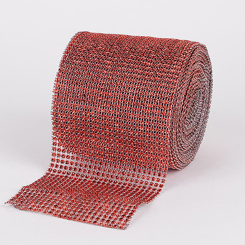 Bling Diamond Rolls Red ( 4 Inch x 10 Yards ) -