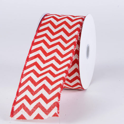 Christmas Ribbon Chevron ( 1-1/2 Inch x 10 Yards	 ) -