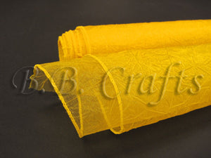 Daffodil  Premium Crinkle Organza Overlays  ( W: 24 inch | L: 10 Yards )- Ribbons Cheap