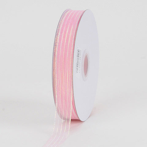 Corsage Ribbon Lt. Pink Iridescent ( W: 3/8 inch | L: 50 Yards ) -