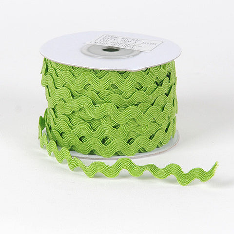 Ric Rac Trim Spring Moss ( 7mm - 25 Yards ) -