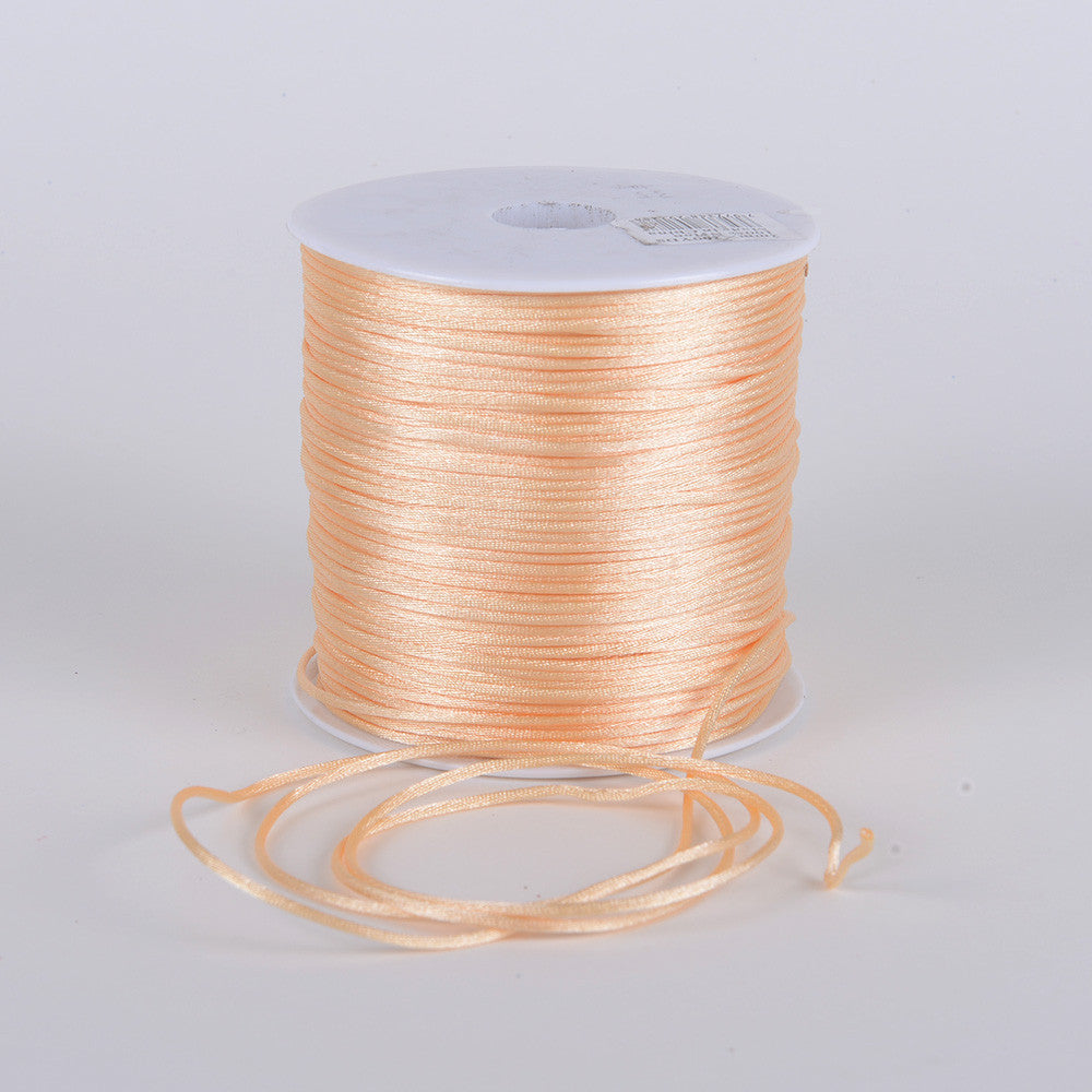 2mm Satin Rat Tail Cord Beige ( 2mm x 100 Yards ) - Ribbons Cheap