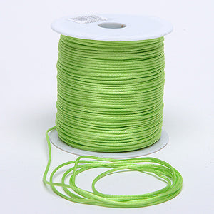 3mm Satin Rat Tail Cord Apple Green ( 3mm x 100 Yards ) - Ribbons Cheap