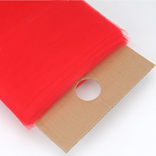 Red Premium Glimmer Tulle Fabric ( W: 6 inch | L: 25 Yards )