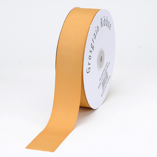 Grosgrain Ribbon Matte Finish Gold ( 1/4 inch | 50 Yards ) -