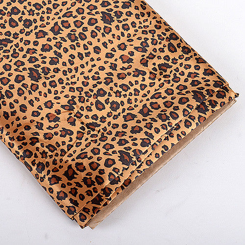 Animal Printed Satin Fabrics Cheetah ( W: 58 inch | L: 10 Yards ) - Ribbons Cheap