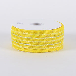 Laser Metallic Mesh Ribbon Daffodil ( 2-1/2 inch x 25 Yards ) -