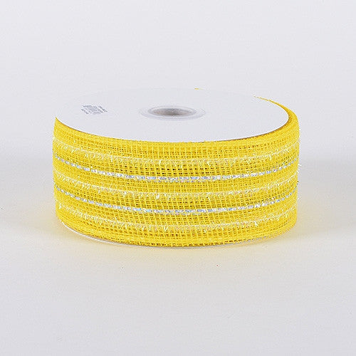 Laser Metallic Mesh Ribbon Daffodil ( 2-1/2 inch x 25 Yards )
