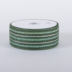 Laser Metallic Mesh Ribbon Old Willow ( 4 Inch x 25 Yards ) -