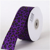 Grosgrain Leopard Print Ribbon Baby Maize ( W: 1-1/2 inch | L: 25 Yards ) -