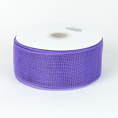 Floral Mesh Ribbon Purple ( 2-1/2 inch x 25 Yards ) -