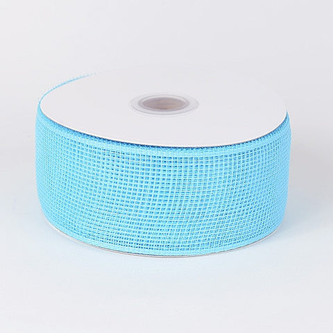 Floral Mesh Ribbon Light Blue ( 4 Inch x 25 Yards ) -