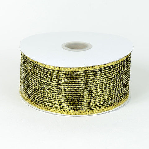 Floral Mesh Ribbon Spring Moss ( 4 Inch x 25 Yards ) -