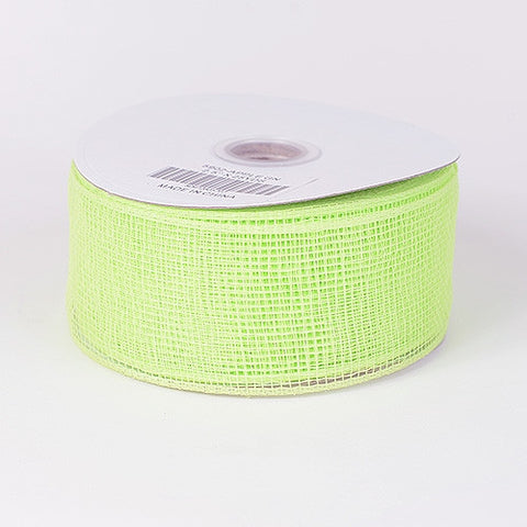 Floral Mesh Ribbon Apple Green ( 4 Inch x 25 Yards ) -