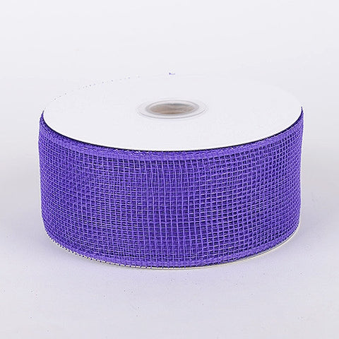 Floral Mesh Ribbon Purple ( 4 Inch x 25 Yards ) -