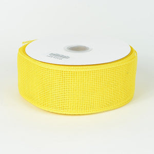 Floral Mesh Ribbon Yellow ( 4 Inch x 25 Yards ) -