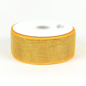 Metallic Deco Mesh Ribbons Gold ( 2.5 inch x 25 yards ) -