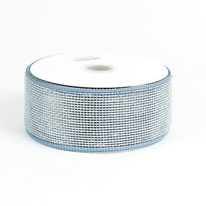 Metallic Deco Mesh Ribbons Silver ( 2.5 inch x 25 yards ) -