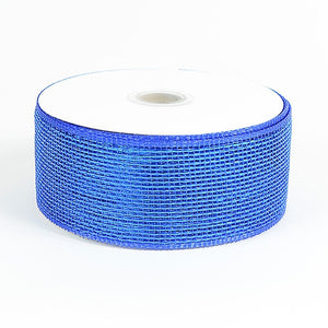 Metallic Deco Mesh Ribbons Royal Blue ( 2.5 inch x 25 yards ) -