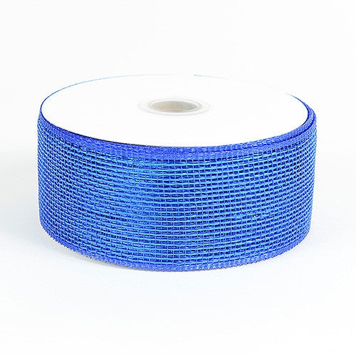 Metallic Deco Mesh Ribbons Royal Blue ( 2.5 inch x 25 yards )