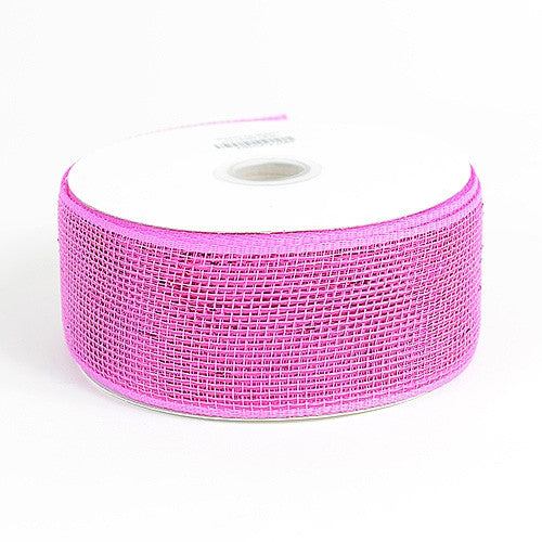Metallic Deco Mesh Ribbons Fuchsia ( 2.5 inch x 25 yards )