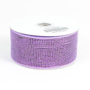 Metallic Deco Mesh Ribbons Lavender ( 2.5 inch x 25 yards ) -