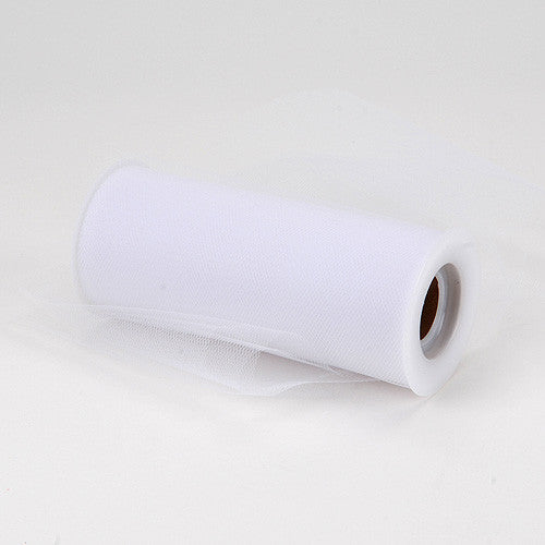 White Premium Tulle Fabric ( 6 inch | 25 Yards )