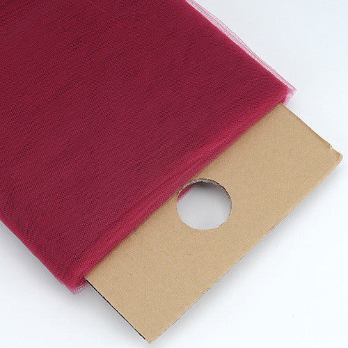 Burgundy 54 Inch Premium Tulle Fabric Bolt ( W: 54 inch | L: 40 Yards ) -