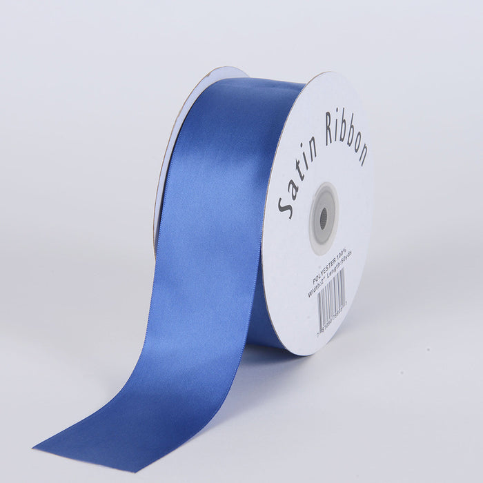 Satin Ribbon Single Face Antique Blue ( W: 3/8 inch | L: 100 Yards )