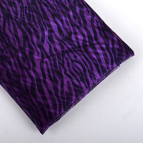 Organza Fabric Animal Printed Purple ( W: 58 inch | L: 10 Yards )