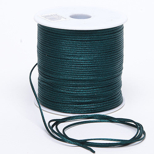 3mm Satin Rat Tail Cord Hunter Green ( 3mm x 100 Yards )