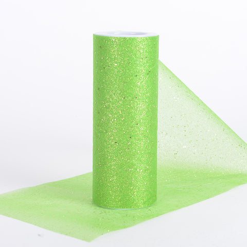 6 Inch Confetti Organza Roll Apple Green ( W: 6 inch | L: 10 yards ) - Ribbons Cheap