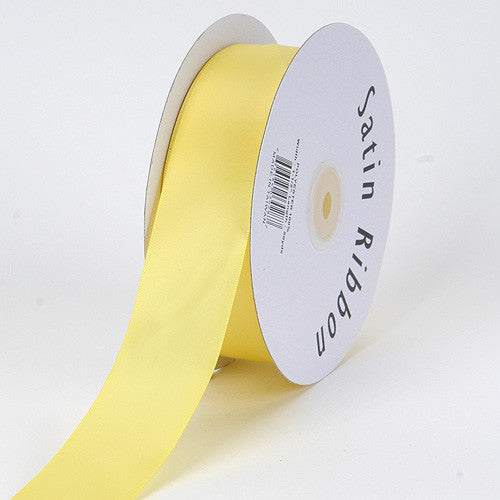 Satin Ribbon Single Face Canary ( 1/8 inch | 100 Yards )
