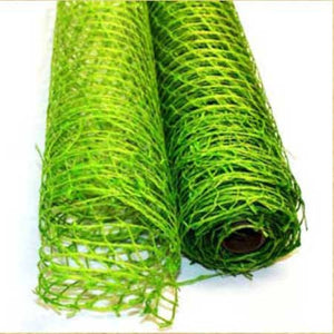 Natural Jute Mesh Apple Green ( 21 Inch x 6 Yards ) -